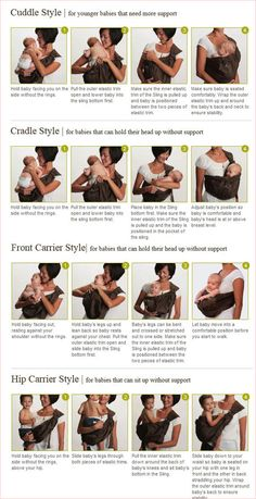 Babywearing tips. No link, but these tips are great. Wish I'd had this when my babies were babies. Might still need it in the future