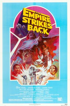 The Empire Strikes Back, 1982 reissue poster by Tom Jung