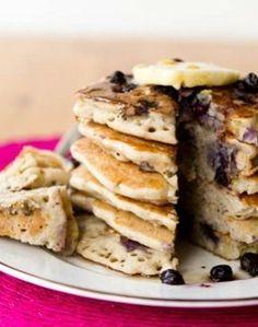 Vanilla Blueberry buckwheat pancakes (vegan/gluten free).