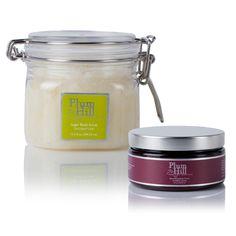 Combo Set  Sugar Body Scrub & Nourishing Body Creme from PlumHill Pure Body Essentials