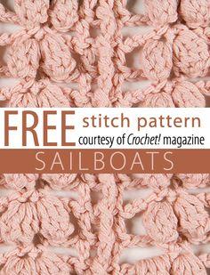 crochet stitches, sailboat stitch, free stitch, crochetstitch, stitch patterns