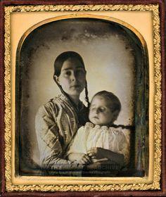 Mother and son, daguerrotype, circa 1846