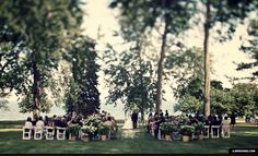 grosse point academy lawn ceremony detroit athletic club reception vintage purple wedding