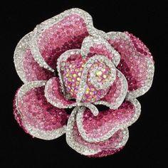 Swarovski Crystals Pink Rose