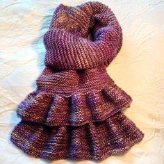 Simple Short Ruffled Scarf by Bea Naretto.