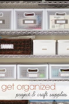 Organized Garage: Craft & Project Supplies