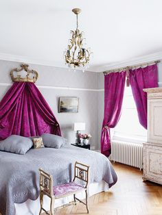 fabulous bed curtain colour - harriet anstruther bedroom