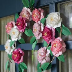 Make these gorgeous camellia blooms from metallic paper for an everlasting bloom that looks so real. Template and tutorial included.