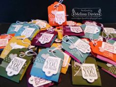 Stampin' Up! Something to Say Scallop Tag Topper Post-it Notes by Melissa Davies @ rubberfunatics