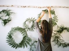 simple wreaths for winter christmas wreaths, fern wreath, holiday wreaths, shop displays, green, holidays, ferns, flower, winter wreaths