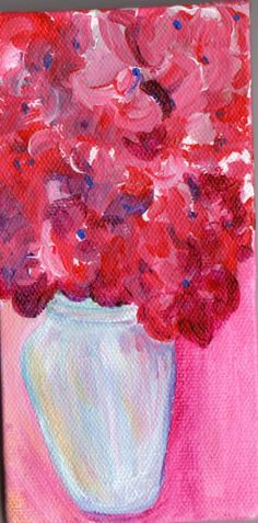 RED Hydrangeas flowers Painting  Original by SharonFosterArt, $27.50    ...BTW,Please Check this out:  http://artcaffeine.imobileappsys.com
