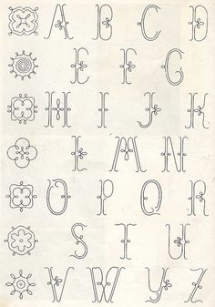 Embroidery monogram patterns from 1950 | Flickr - Photo Sharing!