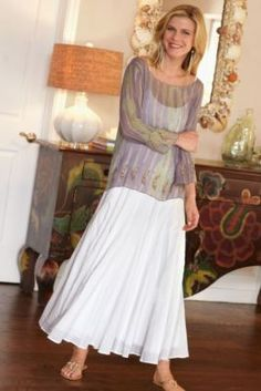 Crinkled Gauze Skirt from Soft Surroundings