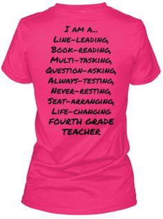 I am a 4th Grade Teacher T-Shirt