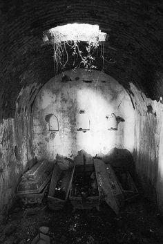 abandoned mausoleum.