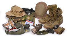 Enkele uitrustingsstukken van Marco Kroon, gedragen tijdens zijn beide missies naar Afghanistan.