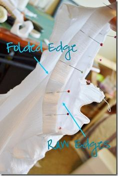 Finish the edges on home-sewn clothes
