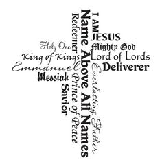 The names of Jesus. He is so much more than this also! He is the God who sees me in my weakest, yet still looks with love. He is YAHWEH! He is God who makes and keeps promises NO man can keep. He is the Almighty who has WON the battle!