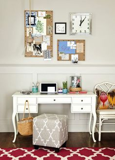 I love the south western elements, look at for decor inspiration Real Simple Home Office  I  ballarddesigns.com
