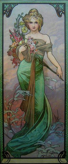 Alphonse Mucha'  'Le Printemps'  1900