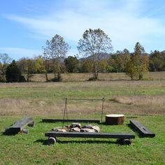 benches, bibl camp, backyard fire pits, camps, lodges, backyards