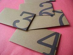 Love these number designed envelopes—brown paper envelopes❣ sugarcubedesign • Etsy