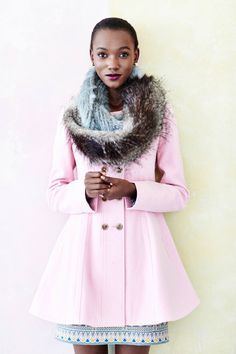 Pretty in Pink | Parker Peacoat from anthropologie
