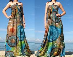 Moon Collection Maxi Dress Women Halter Long Dress by myuniverse, $45.00