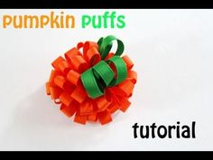 ▶ How to make Kennedy's PUMPKIN PUFFS! (hair bow tutorial/mommycraftsalot) - YouTube