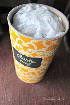 plastic bags, craft, bag storag