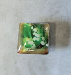 Birth Month Square Glass Flower Magnets 1 by TAKJewelryDesigns, $1.50