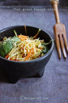 Thai Green Papaya Salad | Thai Som Tum Salad ~ Sankeerthanam ...