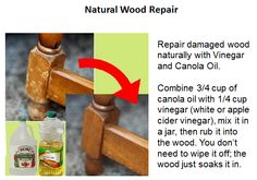 Natural wood repair/polish