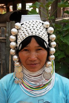 Akha tribal woman in the village of Wan Pin, Shan state, Myanmar / Burma by sensaos, via Flickr