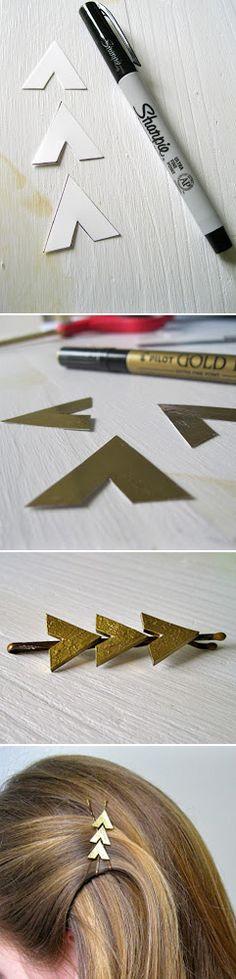 #DIY Arrow Hair Clips