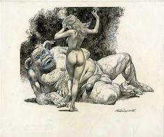 La Bella e la Bestia:  La Danza Dell'Amore:  SERPIERI Comic Art beast, paolo eleuteri, serpieri comic, comic artist, la bestia, artist galleri, eleuteri serpieri, artist crap, erot art