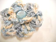 Mens Boutonniere Small Lapel Pin Scarf Pin Blue by StitchKnit, $8.00