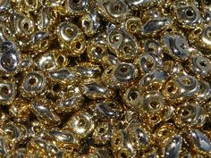 Super Duo 2 Hole Seed Beads Full Amber