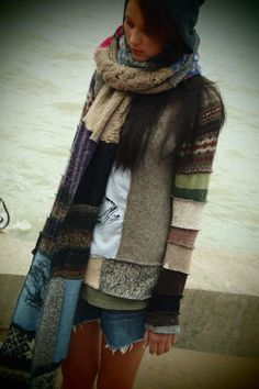 beautiful sweater re-make, susan harris