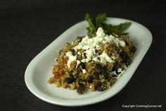 Quinoa and black beans.