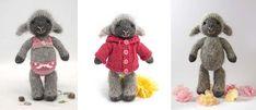 free pattern, knit lamb
