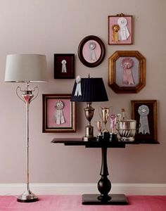 Framed Horse Ribbons. What an amazing decorating idea