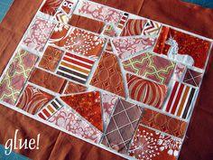 ticker tape, rainbow quilt, mosaics, quilts, stitch