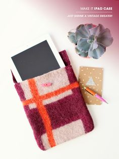 DIY Ipad case from old sweaters
