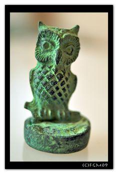 bronze etruscan owl