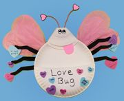 Paper Plate Love Bug