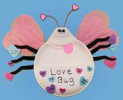 Paper Plate Love Bug valentine crafts, valentine day crafts, bugs, valentine day cards, bug valentin, valentine cards, bug crafts, card holders, kid
