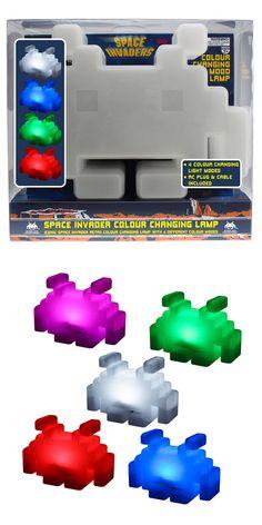 Lámpara Space Invaders