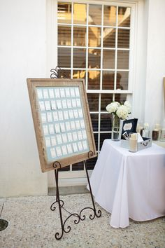 Escort card display, photo by www.candicekphotography.com