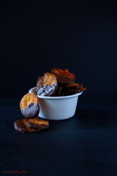 Dark Chocolate Sweet Potato Chips!